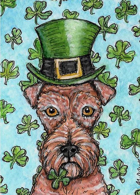 Art: Leprechaun Terrier by Artist Melinda Dalke