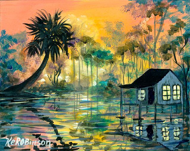 Art: Florida Swamp House by Artist Ke Robinson
