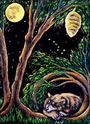 Art: Bear Totem - SA99  (SOLD) by Artist Monique Morin Matson