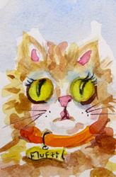 Art: Fluffy No. 3 by Artist Delilah Smith