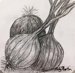 Art: Onions by Artist Ulrike 'Ricky' Martin