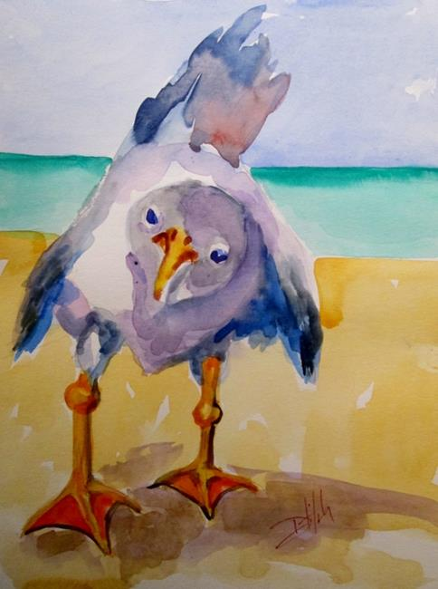 Art: Curious Gull by Artist Delilah Smith