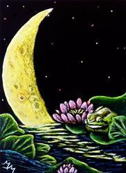 Art: Frog Totem - SA100  (SOLD) by Artist Monique Morin Matson