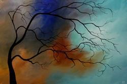 Art: Snowstorm by Artist Christine E. S. Code ~CES~