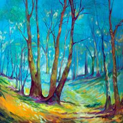Art: INTO the MYSTIC Landscape by Artist Marcia Baldwin