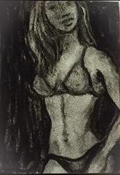 Art: Charcoal Sketch by Artist Ulrike 'Ricky' Martin