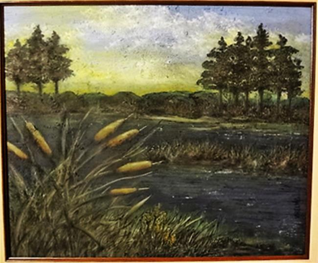 Art: Cattails of the Northwoods (GIFTED) by Artist Vicky Helms
