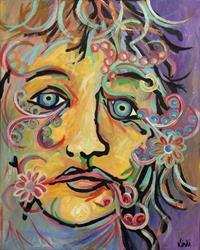 Art: Portrait In Paisley by Artist Lindi Levison