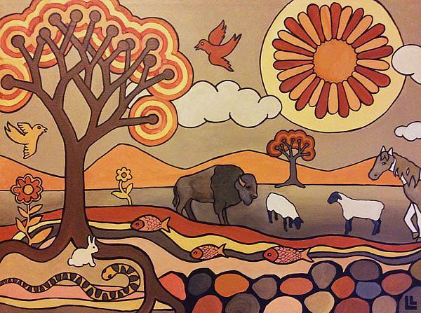 Art: Where The Buffalo Roam by Artist Lindi Levison