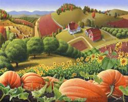 Art: Appalachian Pumpkin Patch by Artist waltcurlee