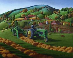 Art: Baling The Hay by Artist waltcurlee