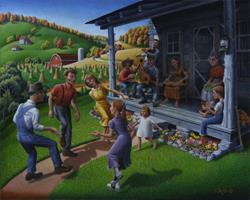 Art: Porch Music And Flatfoot Dancing by Artist waltcurlee