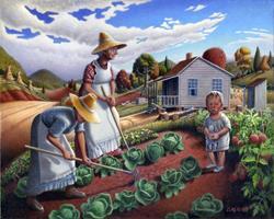 Art: The Family Garden by Artist waltcurlee