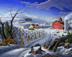 Art: Rural Winter by Artist waltcurlee