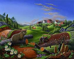 Art: Springtime On The Farm by Artist waltcurlee