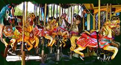 Art: Carousel.jpg by Artist Alma Lee