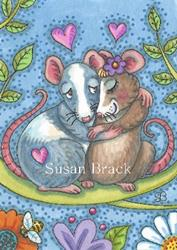 Art: ANIMAL ATTRACTION Mice by Artist Susan Brack