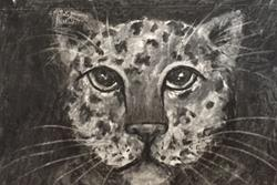 Art: Young Leopard by Artist Ulrike 'Ricky' Martin