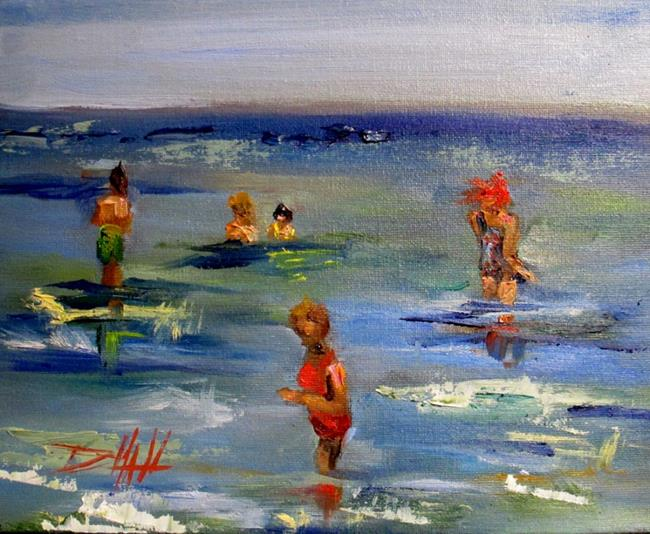 Art: Beach People No. 4 by Artist Delilah Smith