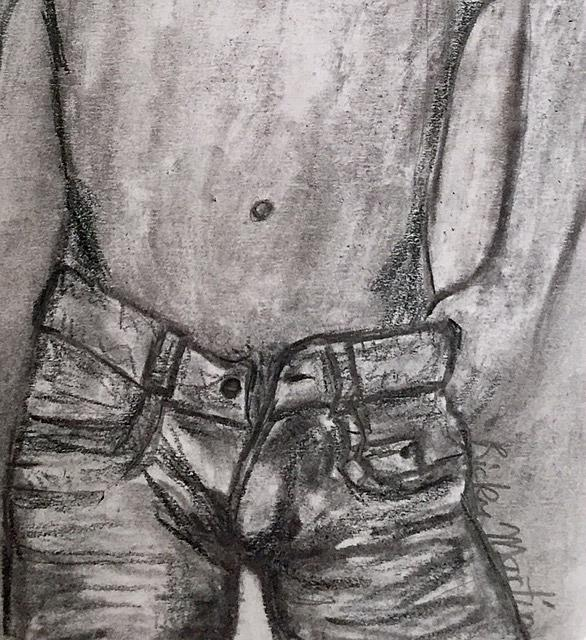 Art: Guy Jeans by Artist Ulrike 'Ricky' Martin