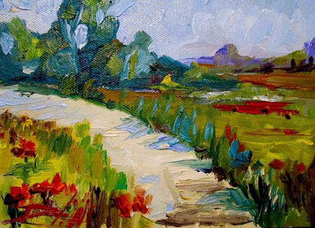 Art: Poppy Path by Artist Delilah Smith