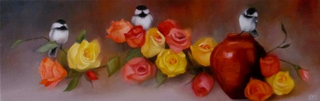 Art: Arranging the Roses by Artist Christine E. S. Code ~CES~