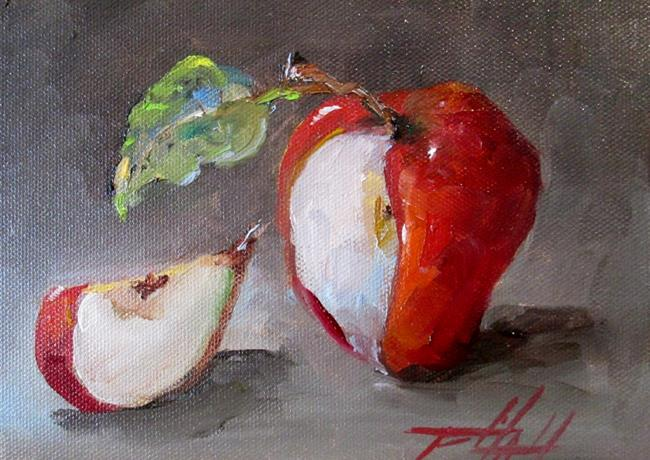 Art: Apple and Slice by Artist Delilah Smith