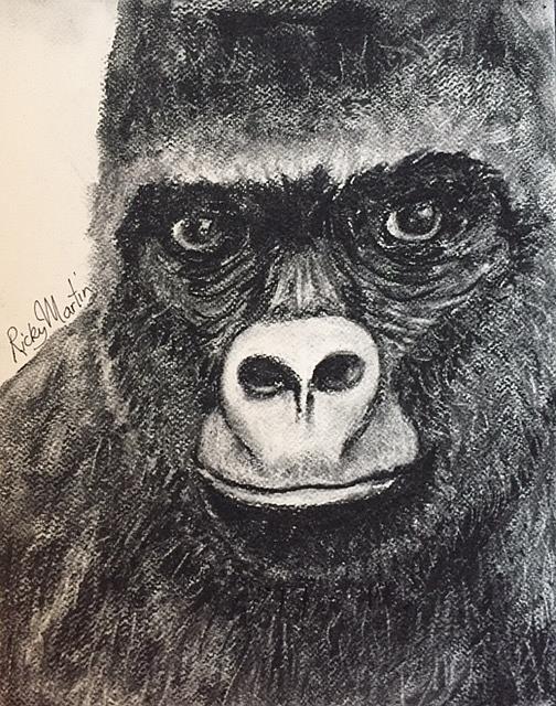 Art: Gorilla by Artist Ulrike 'Ricky' Martin