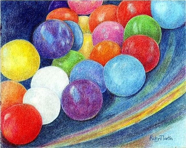 Art: Gumballs - sold by Artist Ulrike 'Ricky' Martin