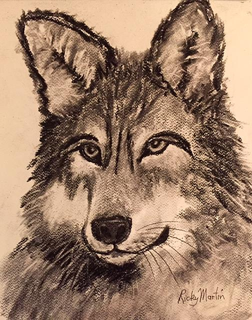Art: Wolf by Artist Ulrike 'Ricky' Martin