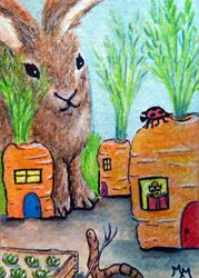 Art: Carrotville  (SOLD) by Artist Monique Morin Matson