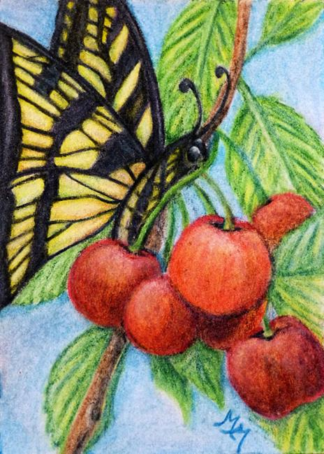 Art: CP17 - Cherries  (SOLD) by Artist Monique Morin Matson