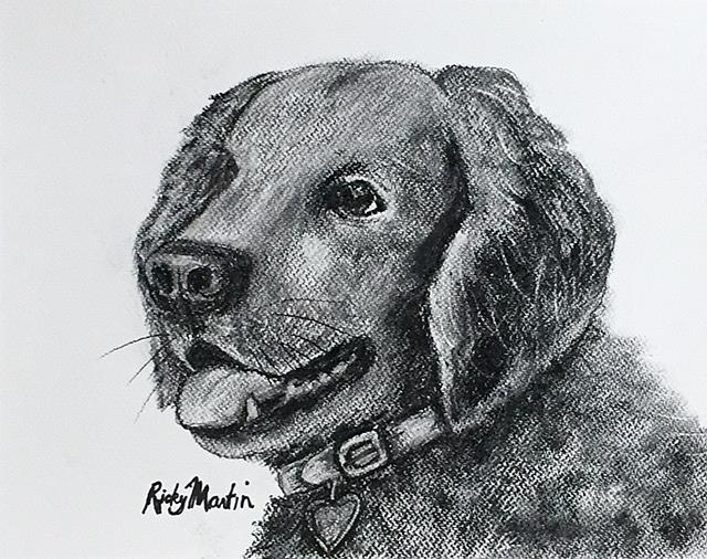 Art: Golden Retriever by Artist Ulrike 'Ricky' Martin
