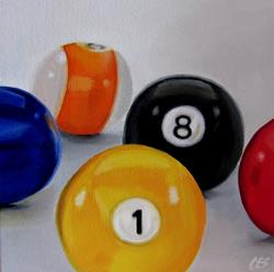 Art: Emma's Pool Balls by Artist Christine E. S. Code ~CES~