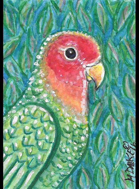 Art: Peachface Lovebird by Artist Melinda Dalke