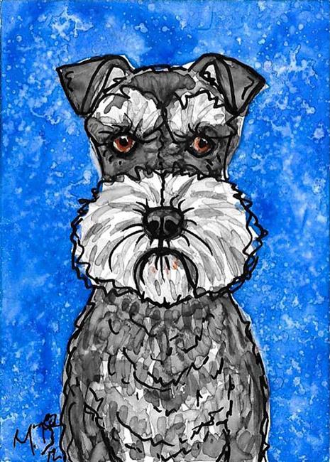 Art: The Schnauzer Blues by Artist Melinda Dalke