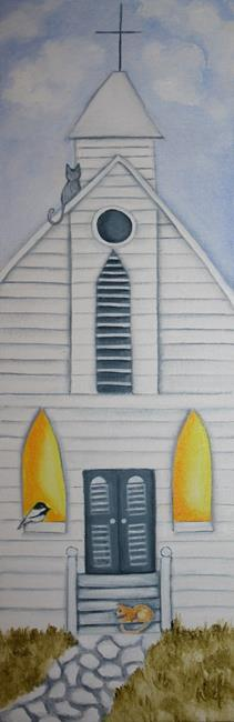 Art: Country Church by Artist Deb Harvey