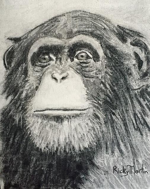 Art: Chimp by Artist Ulrike 'Ricky' Martin