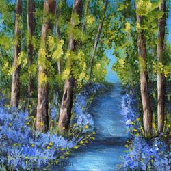Art: Bluebell Stream by Artist Janet M Graham