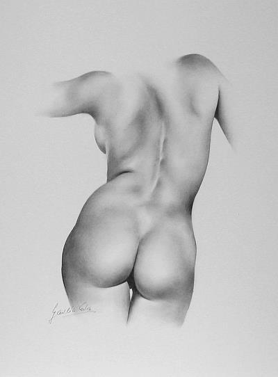 Art: Female Nude by Artist Ewa Kienko Gawlik