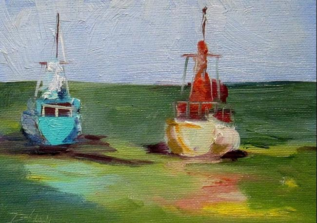 Art: At Rest Sailboats by Artist Delilah Smith