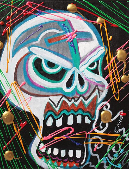 Art: Carnie Skull by Artist Laura Barbosa