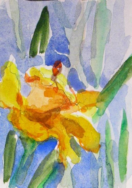 Art: Daffodil Aceo by Artist Delilah Smith