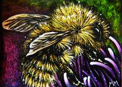 Art: Pollination - SA102  (SOLD) by Artist Monique Morin Matson