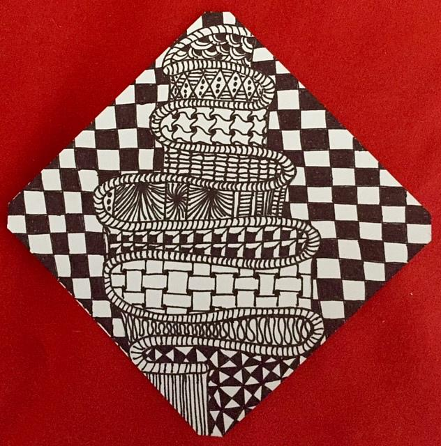 Art: Zentangle Inspired by Artist Ulrike 'Ricky' Martin