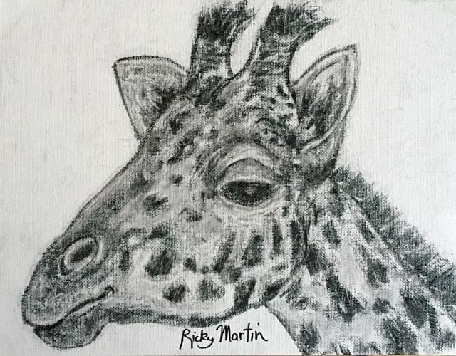 Art: Giraffe by Artist Ulrike 'Ricky' Martin