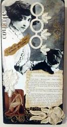 Art: Colette Collage 1 (SOLD) by Artist Vicky Helms