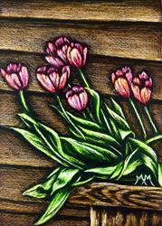 Art: Spring Tulips - SA103  (SOLD) by Artist Monique Morin Matson