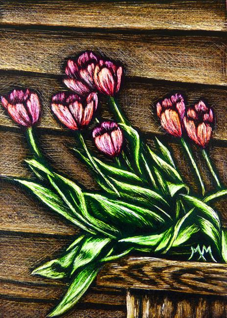 Art: Spring Tulips - SA103  (SOLD) by Artist Monique Morin Matson