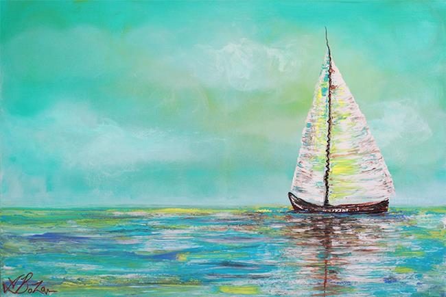 Art: Alone At Sea by Artist Laura Barbosa